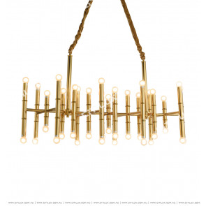 Stainless Steel Bamboo Golden Chandelier Citilux