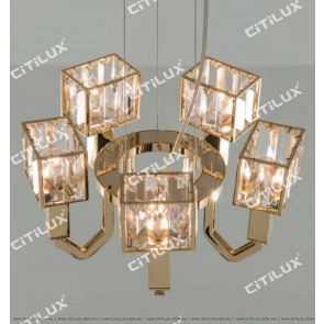 Simple Stainless Steel Crystal Square Cover Small Chandelier Citilux