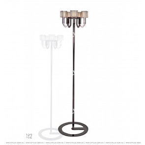 Simple Stainless Steel Crystal Square Cover Floor Lamp Citilux