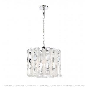 Textured Metal Texture Glass Buckle Round Chandelier Citilux