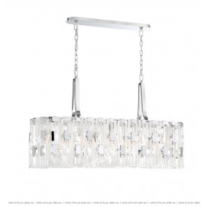 Textured Metal Texture Glass Buckle Chandelier Long Section Citilux
