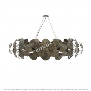 Floating Flat Ring Chandelier Pearl Blac Citilux