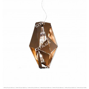 Metal Copper Geometric Mosaic Wall Lamp Citilux