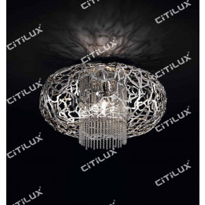 Stainless Steel Mosaic Lantern Ceiling Lamp Citilux