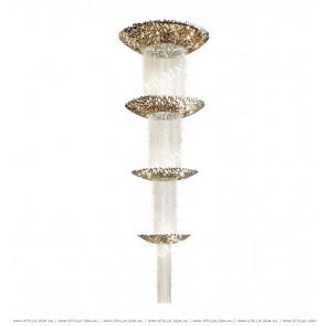 Stainless Steel bird Nest Multi-tier Chandelier Citilux