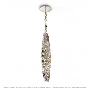 Olive-Shaped Metal Chrome Chandelier Citilux