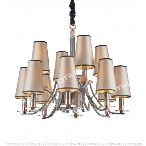 Modern Neoclassical Original Wrought Iron Chandelier Citilux