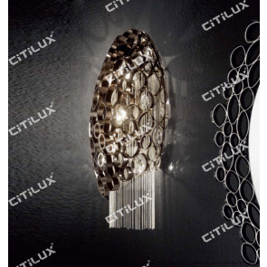Stainless Steel Olive-Shaped Pearl Black Wall Lamp Citilux