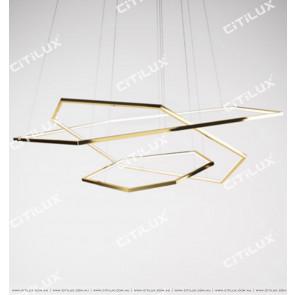 Minimalist Stainless Steel Hexagonal Chandelier Citilux