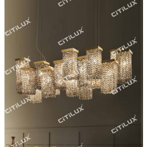 Dry Color Square Multi-Head Combination Crystal Chandelier Citilux