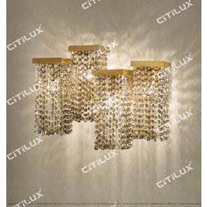 Dry Color Square Multi-Head Combination Crystal Wall Lamp Citilux