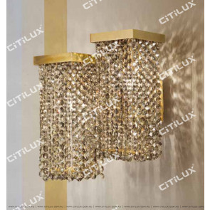 Dry Color Square Double-Head Combination Crystal Wall Lamp Citilux