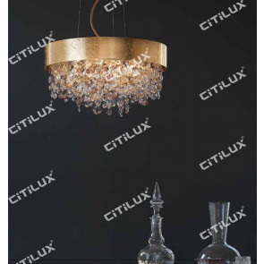 Nordic Round Gold Crystal Chandelier Citilux