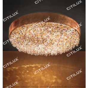 Nordic Round Rose Crystal Ceiling Lamp Citilux