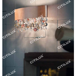 Nordic Olive-Shaped Gold Crystal Wall Lamp Citilux