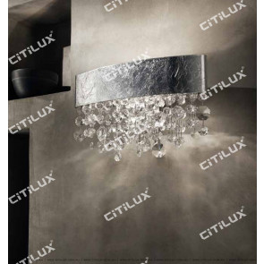 Nordic Olive-Shaped Silver Crystal Wall Lamp Citilux