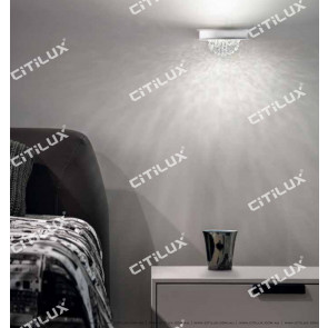 Semi-Circular Planet Crystal Aisle Wall Lamp Citilux