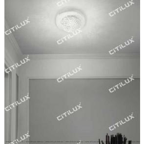 Semi-Circular Planet Crystal Aisle Ceiling Lamp Citilux