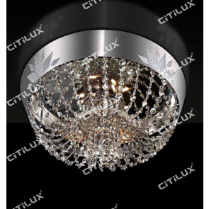 Modern Crown Crystal Ceiling Lamp Citilux