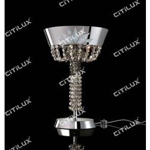 Modern Crown Crystal Table Lamp Citilux