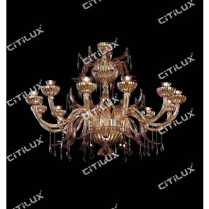 Handmade Orchid Glass Chandelier Citilux