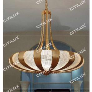 Texture Grain Glass Splicing Chandelier Gold Citilux