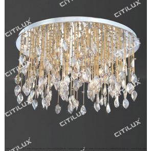 Starlight Fantasy Crystal Ceiling Light 685Mm Gold Citilux