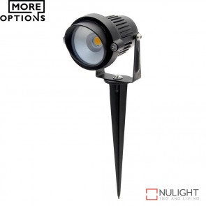 Terra Adjustable 12V 6W Led Garden Spike Light Black Finish Led DOM