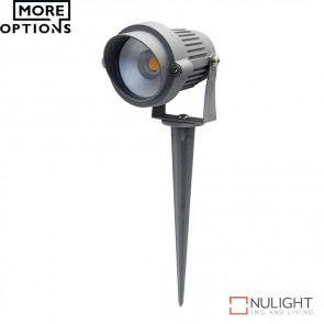 Terra Adjustable 12V 6W Led Garden Spike Light Silver Finish Led DOM
