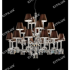 European Minimalist Crystal Double Chandelier Citilux