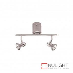 Vogue Diy 2 Light Bar Gu10 Brushed Steel Globes Incl BRI