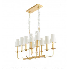 Modern Nordic Simple Copper Cloth Chandelier Citilux