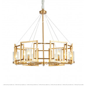 American Modern Copper Chandelier Citilux