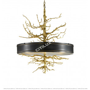 American Copper Branch Shape Creative Chandelier Citilux