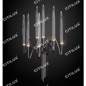 Stereo Icicle Long Wall Light Chrome Citilux