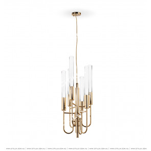 Simple Thin Line Explosion-Proof Glass Four Small Chandelier Citilux