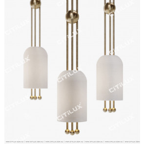 Copper Threaded White Glass Wall Lamp Citilux