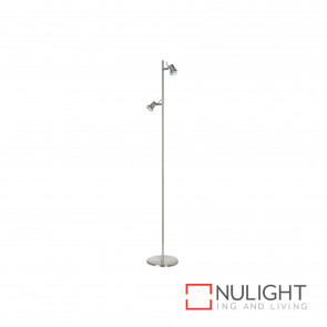 Elite 2 Light Floor Lamp - Brushed Chrome BRI