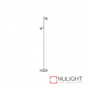 Elite 2 Light Floor Lamp - Brushed Chrome BRI