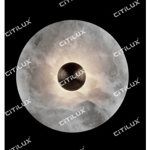 Round Moonpane Spanish Marble Wall Lamp Citilux
