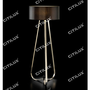 Modernized Three-Legged Stainless Steel Floor Lamp Citilux