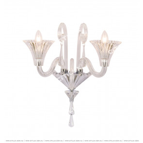 Light Luxury Glass Crystal Double Wall Lamp Citilux