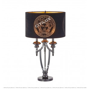 European Neo-Classical Face Pattern Table Lamp Citilux