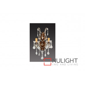 Venice 2 Light Crystal Wall Bracket VAM