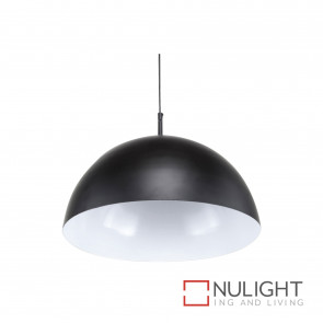 Metzo Black 40Cm Pendant Form. Allegro Globe Not Incl BRI