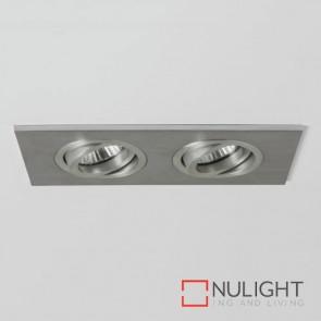 Taro Twin Fire-Rated Brushed Aluminium 5709 AST