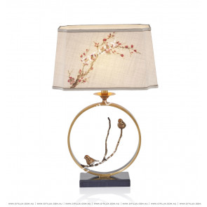 New Chinese Style Fresh Bird Language Floral Table Lamp Citilux