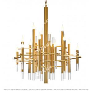American Titanium Candle Chandelier Citilux