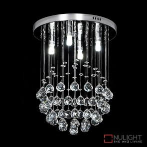 Jupiter 30 Crystal Led Ctc Pendant Diameter 300Mm White Led DOM