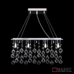 Starlight P80 Crystal Led Pendant Length 800Mm White Led DOM